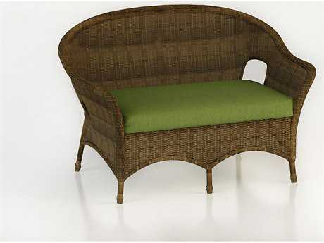 Forever Patio Quick Ship Rockport Chestnut Wicker Loveseat