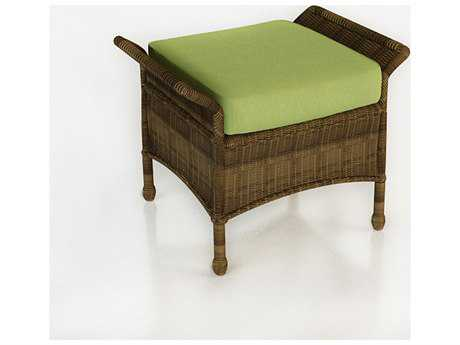 Forever Patio Quick Ship Rockport Chestnut Wicker Ottoman