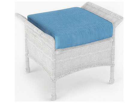 Forever Patio Quick Ship Rockport White Wicker Ottoman