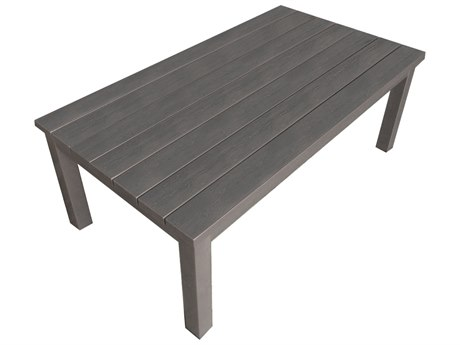 Forever Patio Selene Sterling Aluminum 44 x 24 Rectangular Coffee Table