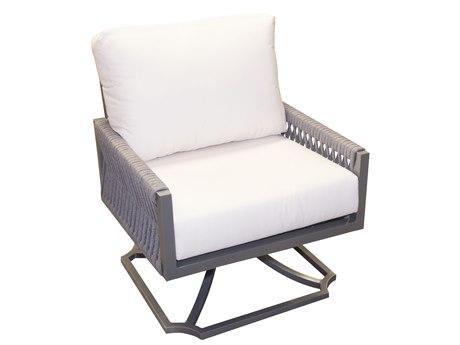 Forever Patio Selene Aluminum Sterling Swivel Rocker Lounge Chair PatioLiving