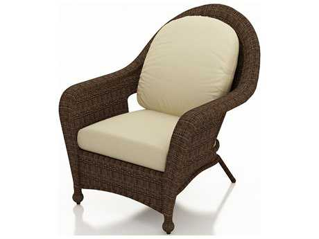 Forever Patio Quick Ship Winslow Cocoa Wicker Lounge Chair
