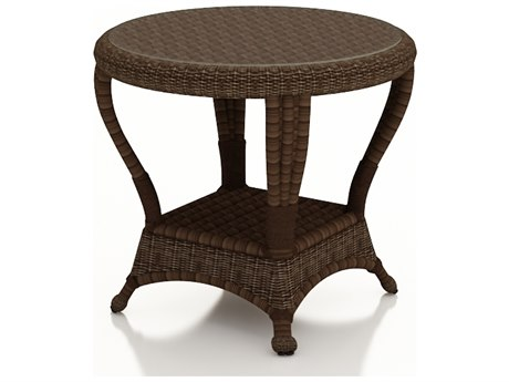 Forever Patio Winslow Cocoa Wicker 22 Round End Table