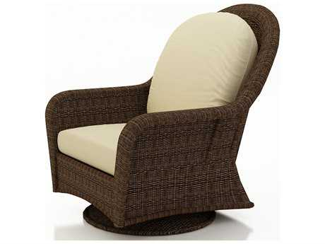 Forever Patio Quick Ship Winslow Cocoa Wicker High Back Swivel Glider