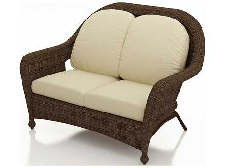 Forever Patio Quick Ship Winslow Cocoa Wicker Loveseat
