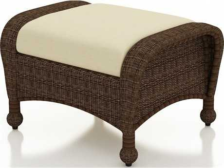 Forever Patio Quick Ship Winslow Cocoa Wicker Ottoman