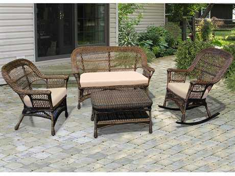 NorthCape Manchester Wicker Conversation Cushion Lounge Set