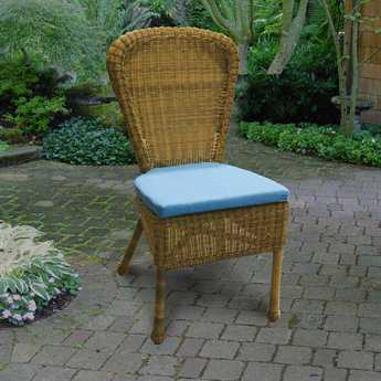 Universal Wicker Cushion Side Dining Chair