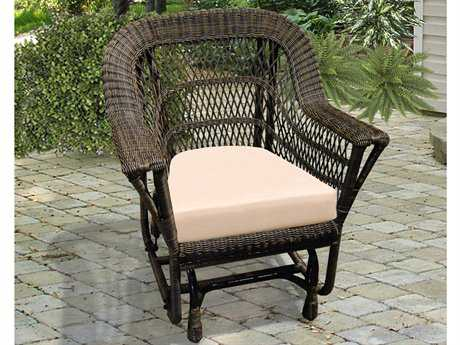 NorthCape Manchester Wicker Cushion Arm Glider Lounge Chair