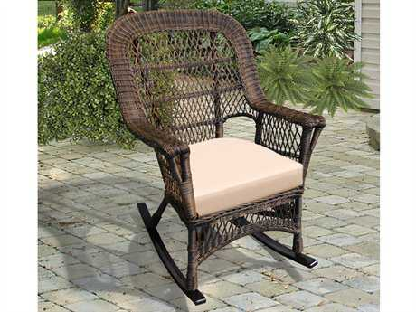 NorthCape Manchester Wicker Cushion Arm Rocker Lounge Chair