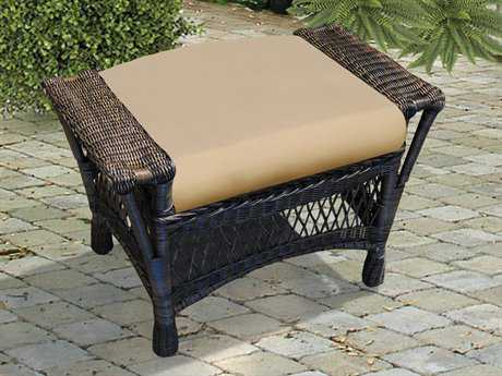 NorthCape Manchester Wicker Cushion Ottoman