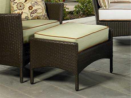 NorthCape Venice Wicker Cushion Patio Ottoman