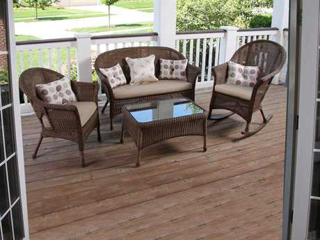 Forever Patio Rockport Wicker Lounge Set
