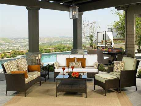 NorthCape Venice Conversation Cushion Patio Wicker Lounge Set