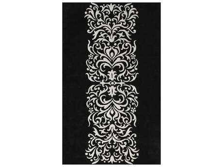 Noble House Amber Black & Silver Rectangular Area Rug