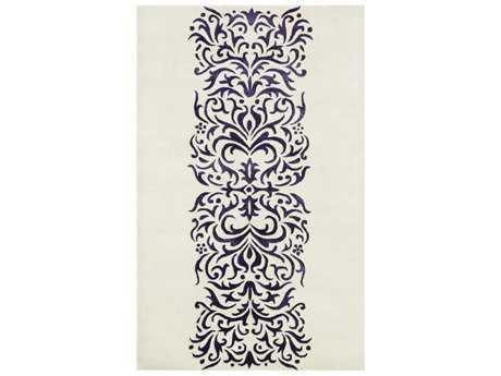 Noble House Amber Rectangular Ivory & Purple Area Rug