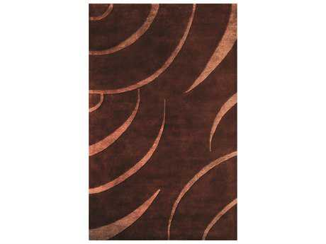 Noble House Citadel Brown & Peach Area Rectangular Rug