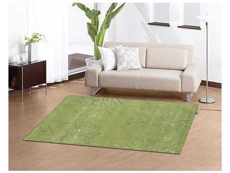 Noble House Citadel Green Rectangular Area Rug