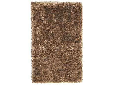 Noble House Crystal Multi Rectangular Beige & Dark Brown Area Rug