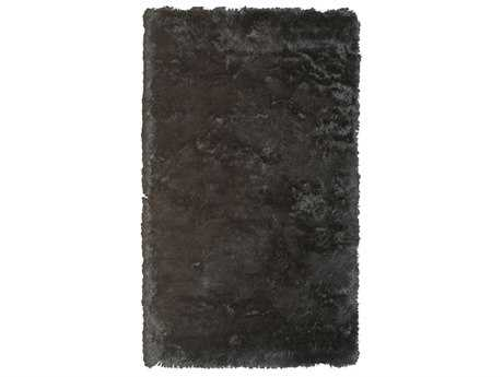 Noble House Crystal Solid Black Area Rug