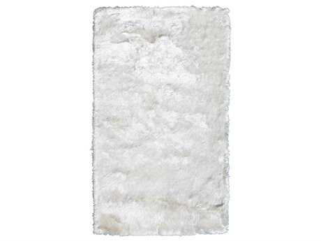Noble House Crystal Solid Rectangular White Area Rug