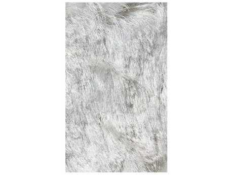 Noble House Crystal Solid White Rectangular Area Rug