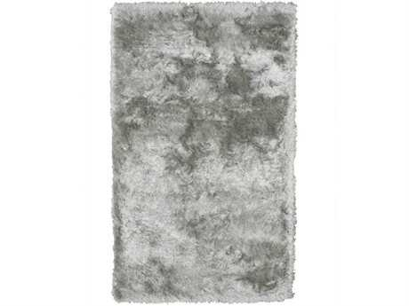 Noble House Crystal Solid Rectangular Silver Area Rug
