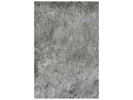 Noble House Crystal Solid Silver Rectangular Area Rug