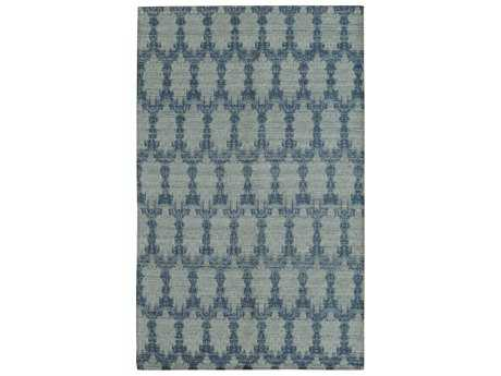 Noble House Electra Rectangular Sky Blue Area Rug