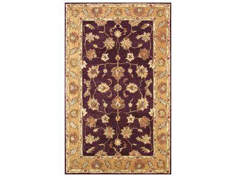 Noble House Golden Burgundy & Gold Rectangular Area Rug