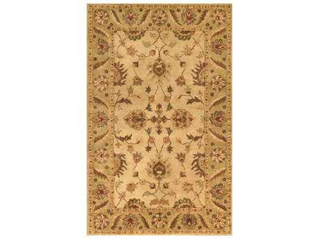Noble House Golden Beige & Light Green Rectangular Area Rug