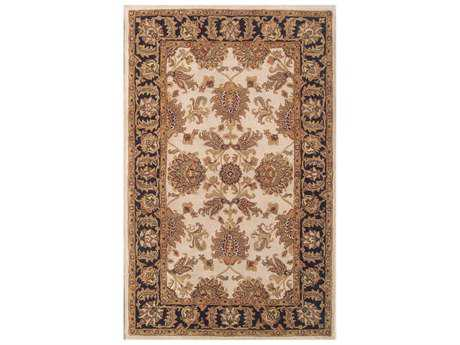 Noble House Harmony Beige & Blue Rectangular Area Rug
