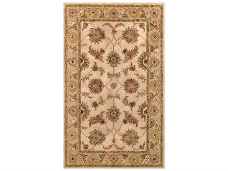 Noble House Harmony Beige & Light Green Rectangular Area Rug