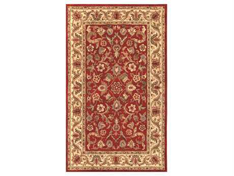 Noble House Harmony Red Rectangular Area Rug