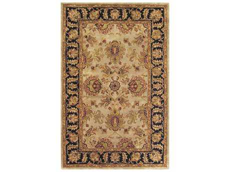 Noble House Imperial Camel & Blue Rectangular Area Rug