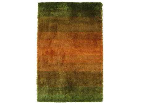 Noble House Jewel Rectangular Green & Rust Area Rug