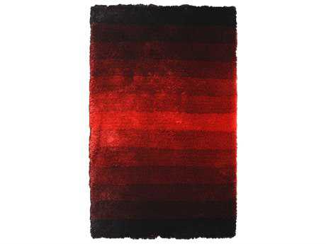 Noble House Jewel Black & Red Rectangular Area Rug