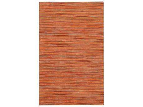 Noble House Lazzarro Rectangular Orange Area Rug