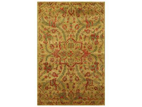 Noble House Legacy Gold Rectangular Area Rug