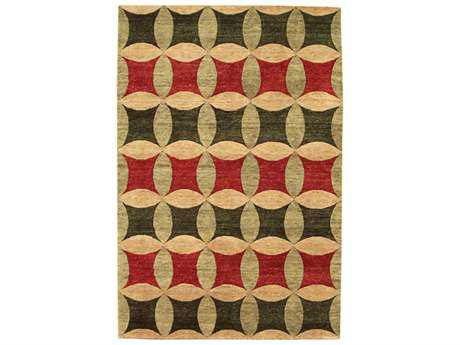 Noble House Legacy Rust, Green & Gold Rectangular Area Rug