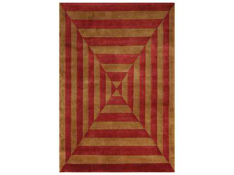 Noble House Noble Gold & Rust Rectangular Area Rug