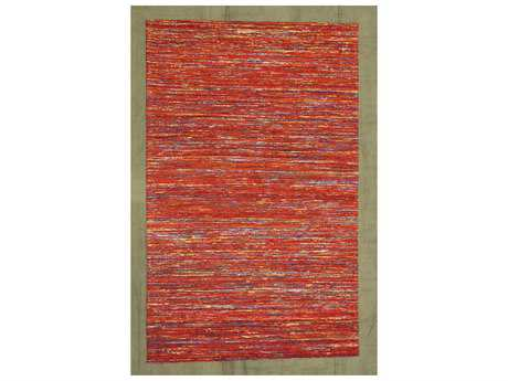 Noble House Rainbow Red & Gold Rectangular Area Rug