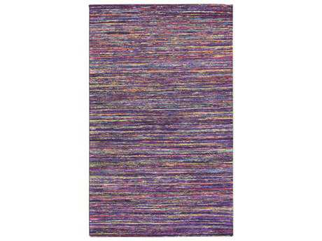 Noble House Rainbow Rectangular Dark Purple Area Rug