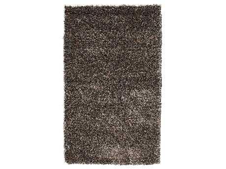 Noble House Sheen Rectangular Black & Ivory Area Rug