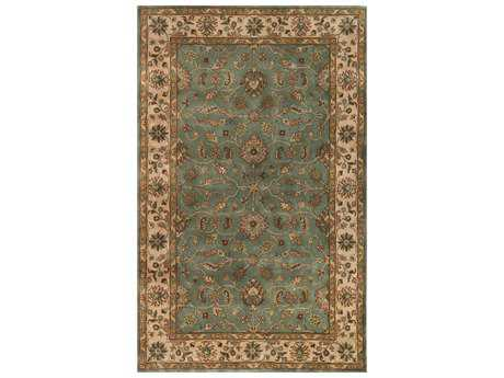 Noble House Vintage Light Blue & Beige Rectangular Area Rug