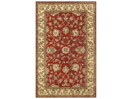 Noble House Vintage Red & Gold Rectangular Area Rug