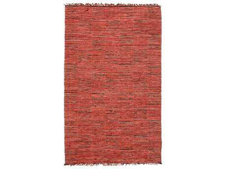 Noble House Vista Rectangular Red & Black Area Rug