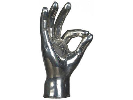 Noir Furniture Silver Ok Sign Sculpture