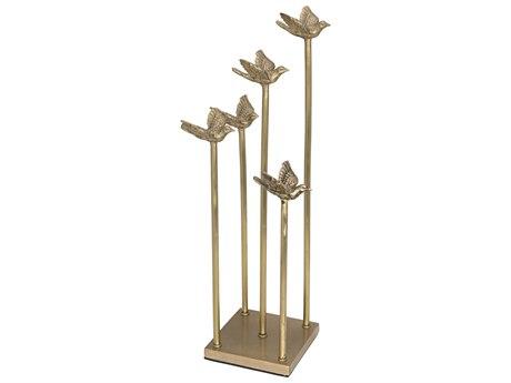 Noir Furniture Solid Brass Flight Sculputure