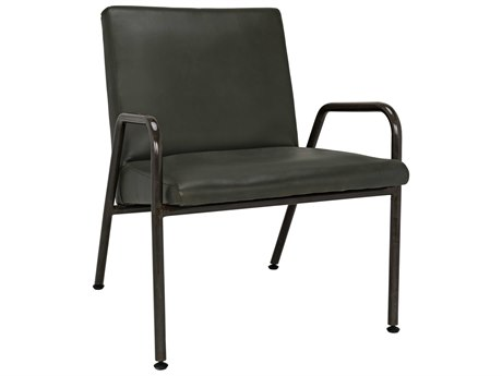 Noir Furniture Oplus Green Leather Lounge Chair